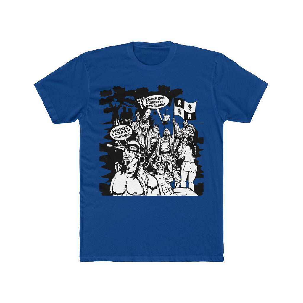 Men's Cotton Crew Tee - Christopher Columbus