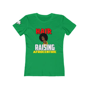 Women's The Boyfriend Tee - Hair Raising Afrocentric  V