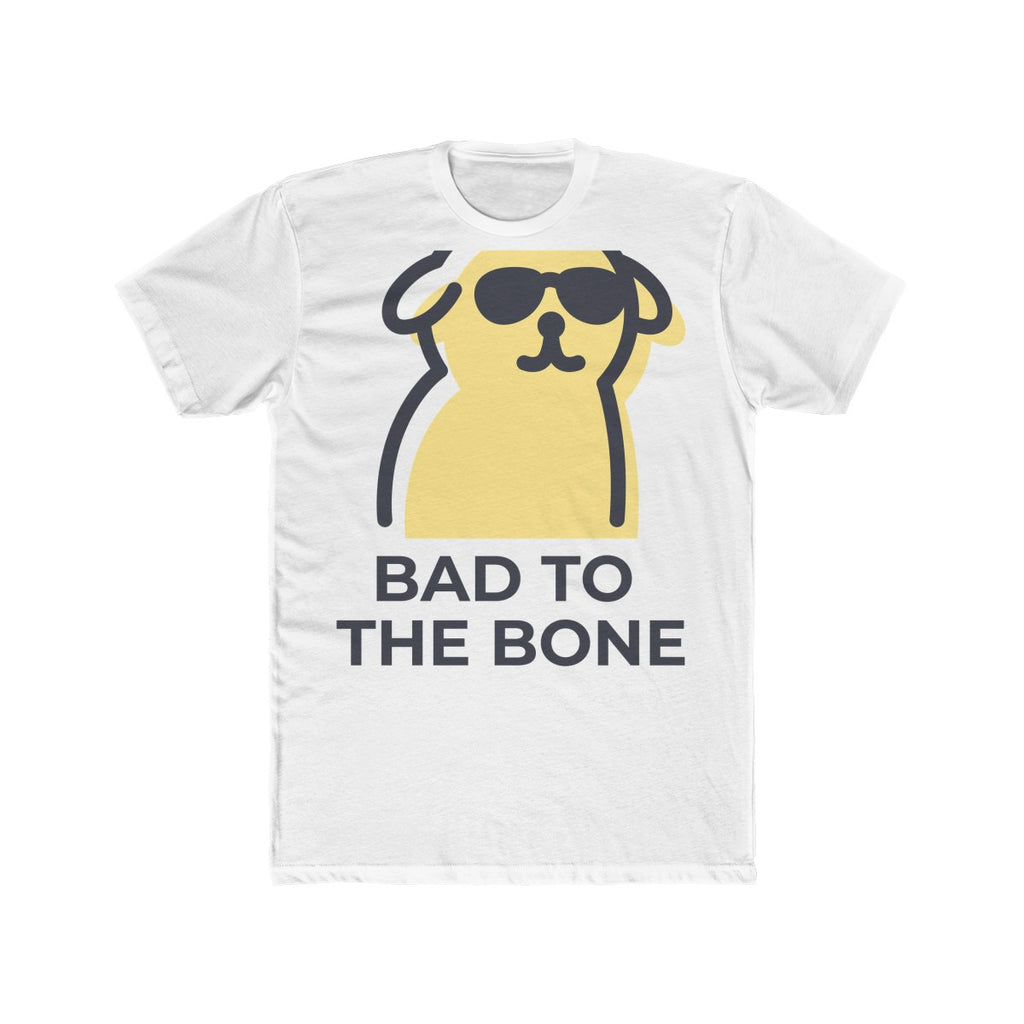Men's Cotton Crew Tee --- Bad to the Bone