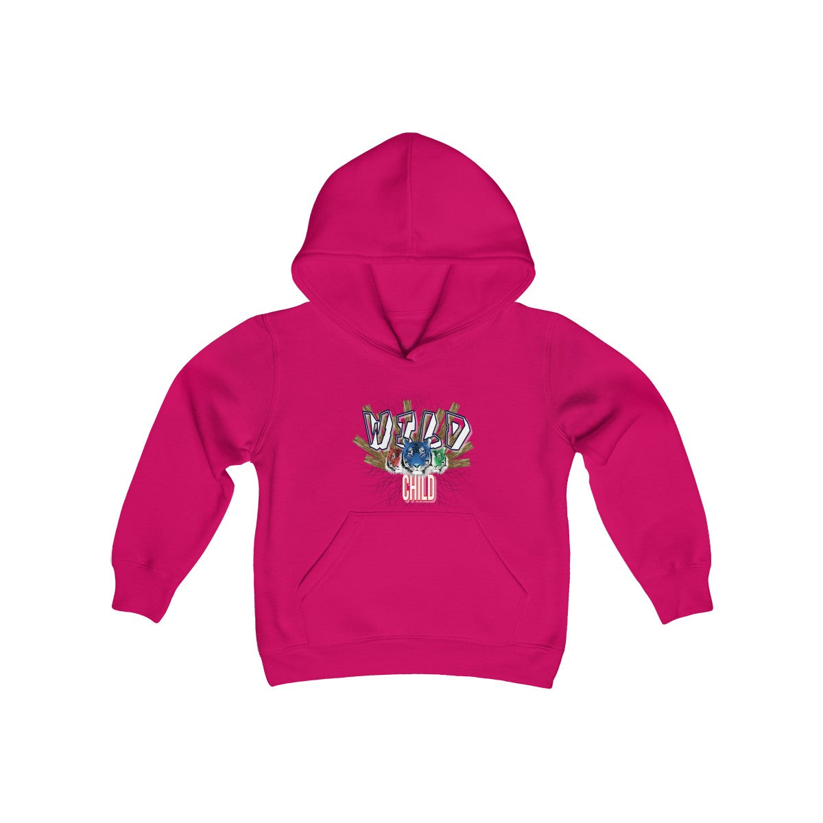 Youth Heavy Blend Hooded Sweatshirt - Wild Child