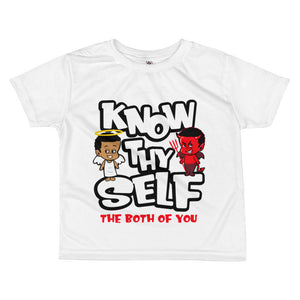 All-over kids sublimation T-shirt - Know Thyself