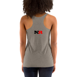 Women's Racerback Tank - 5 Stars 6 Points (White)