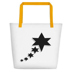 Beach Bag - 5 Stars 6 Points (Black)