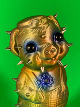 Load image into Gallery viewer, Iridescent Pig with Spikes and Big, Black Eyes