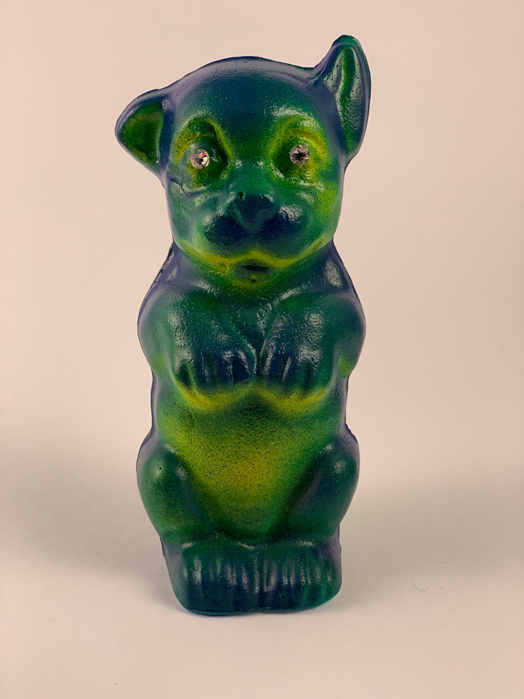 Mister Bonzo Chalkware: Blue, Yellow and Green