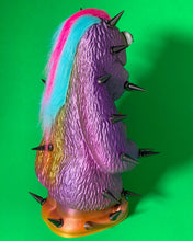 Load image into Gallery viewer, Monster: Purple, Pink and Orange with Black Spikes and Multi-Colored Hair