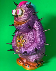 Monster: Purple, Pink and Orange with Black Spikes and Multi-Colored Hair