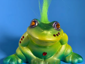 Frog with Green Hair