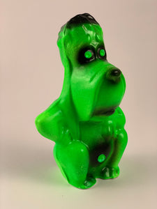 Mister Droopy Chalkware: Fluorescent Green and Black