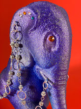 Load image into Gallery viewer, Walking Elephant with Rhinestone Chains