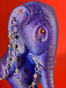 Walking Elephant with Rhinestone Chains