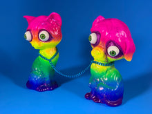 Load image into Gallery viewer, Rainbow Sad Dog/Sad Cat with Purple Glitter