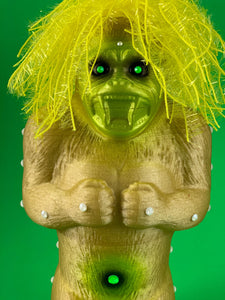 Crazy Danger Ape: Gold Glitter, Yellow Hair