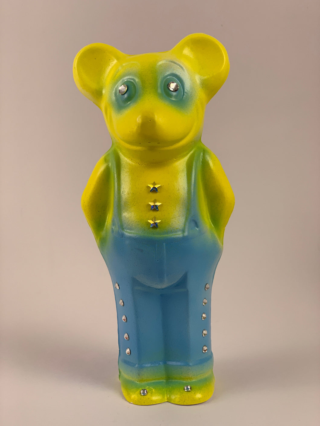 Mister Mouse Chalkware: Blue and Yellow with Stars