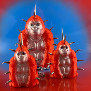 Red and Silver Chained Spike Apes