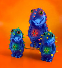 Load image into Gallery viewer, Crocodile Headed Monsters: Blue and Fluorescent