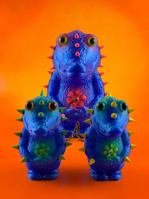 Crocodile Headed Monsters: Blue and Fluorescent