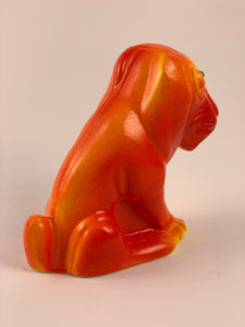 Mister Sad Dog Chalkware: Red, Orange and Yellow