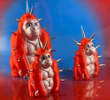 Load image into Gallery viewer, Red and Silver Chained Spike Apes