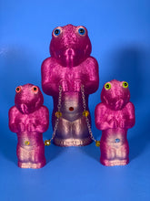 Load image into Gallery viewer, Wonderful Time Croc-Ape Family: Translucent Purple/Silver