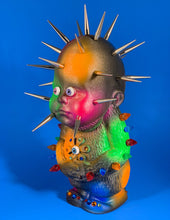Load image into Gallery viewer, Decked out Freak Head Monster with Florescent Spots