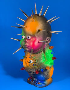 Decked out Freak Head Monster with Florescent Spots