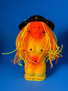 Yellow and Orange Ape with Spike Hat