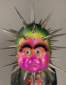 Giant Baby Headed Monster Freak with Crazy Spikes and Rhinestones