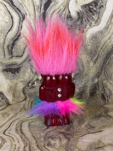 Extra Glossy Double Headed Pig Ape: Dark Red
