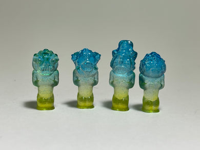 Space Ape Revenge Squad: mini prototype set, blue/green