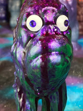 Load image into Gallery viewer, Ape Hopper: Resin Cast with Runny Purple Glitter