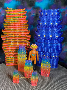 Aton Ape God of Space: Glitter Blue with Yellow Eyes