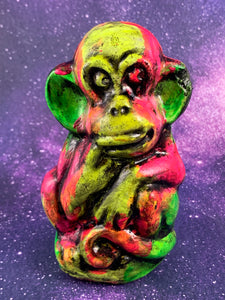 Creepy Neon Monkey