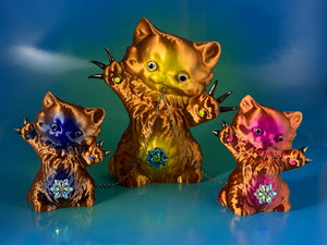 Copper Cats with Iridescent Colors