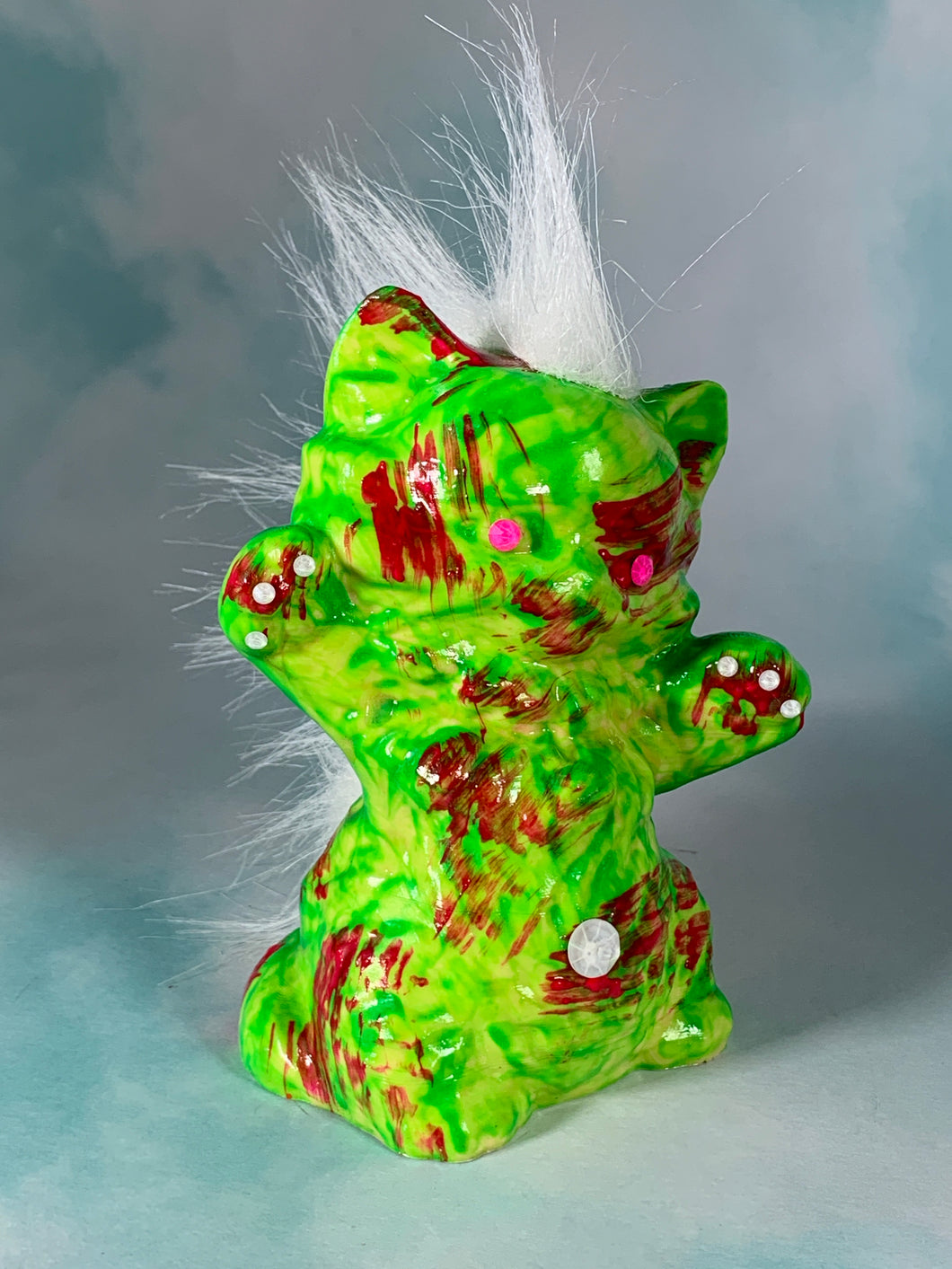 Green and Red Cat