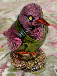 Fancy Dressed Bird: Pink and Green