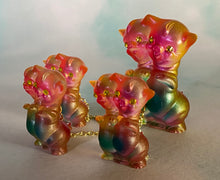 Load image into Gallery viewer, Tiny Double Header Twisty Pig Set: green/blue/pink/yellow