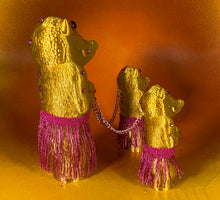 Load image into Gallery viewer, Crocodile Headed Apes: Gold with Pink Hula Gear