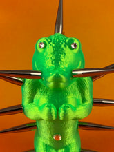 Load image into Gallery viewer, Mini Croc Headed Ape: Florescent Green with Long Spikes