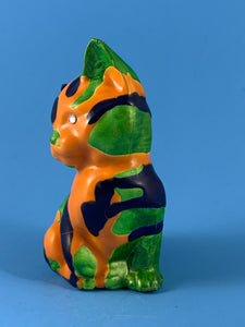 Orange/Blue cat with Green