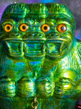 Load image into Gallery viewer, Freak of Nature 3 Headed Ape with 2 Crocodile Headed Pigs: Glitter Green