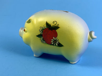 Piggy Bank with Strawberries
