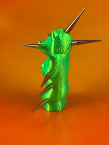 Mini Croc Headed Ape: Florescent Green with Long Spikes