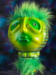 Moon Head Giant Head Freak: Green Stripes