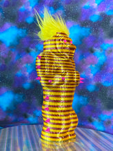 Load image into Gallery viewer, Yellow Ape with Red Stripes and Pink Spikes