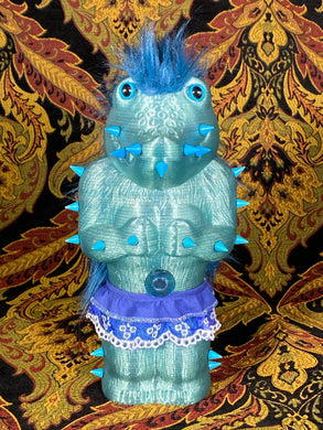 Crocodile Ape Cult: Frilly Blue Worshipper