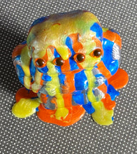 Load image into Gallery viewer, Freak of Nature 3 Headed Ape: Color Dump, Pearlescent Blue, Yellow, Orange