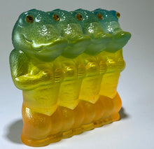 Load image into Gallery viewer, Crocodile Ape Cult, 4 Headed: green/yellow/orange