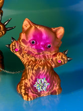 Load image into Gallery viewer, Copper Cats with Iridescent Colors