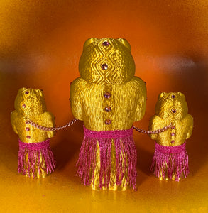 Crocodile Headed Apes: Gold with Pink Hula Gear